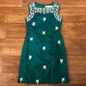 Vintage Satin Beaded Dress